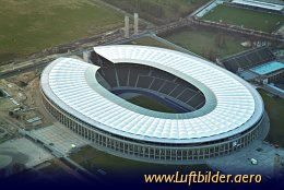Aerial photo Olympic Stadium Berlin