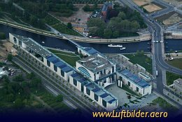Aerial photo German Chancellery