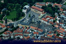 Aerial photo Goethe House in Weimar