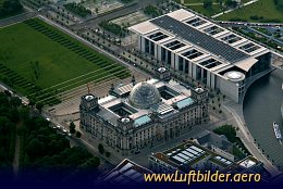 Aerial photo Berlin Reichstag