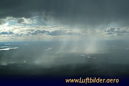 Aerial photo Heavy shower