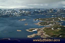 Aerial photo Norwegian Highlands in the Summer