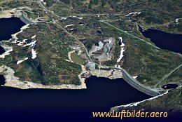 Aerial photo Dam in the Norwegian Highlands