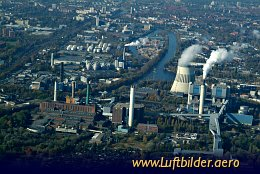 Aerial photo Power Plant Reuter