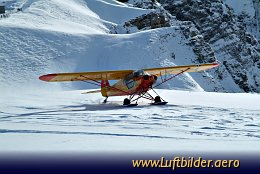 Aerial photo Glacier Flight