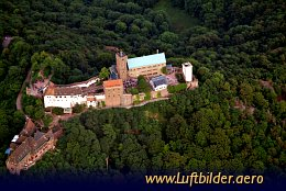 Aerial photo Wartburg Castle