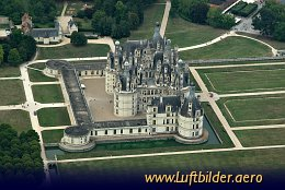 Aerial photo Chateau de Chambord