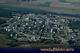 Aerial photo Chemical Factory Nünchritz