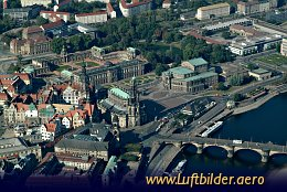 Aerial photo Dresdens Old Town