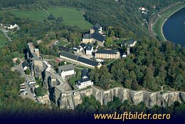 Aerial photo Königstein Fortress