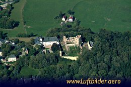 Aerial photo Ruins of  Frauenstein Castle