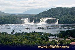 Aerial photo Canaima Waterfall