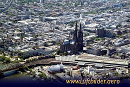 Aerial photo Cologne Cathedral