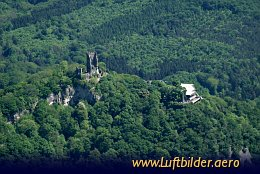 Aerial photo Drachenfels Castle