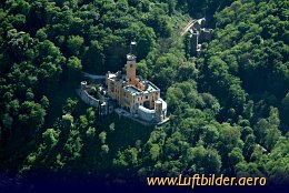 Aerial photo Stolzenfels Castle