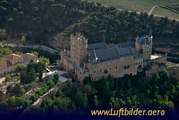 Aerial photo Alcazar of Segovia