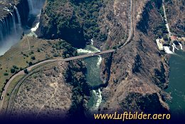Aerial photo Victoria Falls Bridge