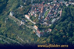 Aerial photo Dornburg Castles