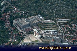 Aerial photo Zeiss headquarter in Jena