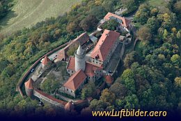 Aerial photo Leuchtenburg Castle