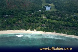 Aerial photo Le Lemuria Resort of Praslin