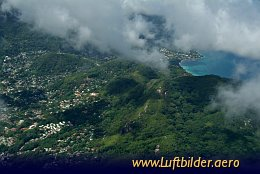 Aerial photo Beau Vallon Bay