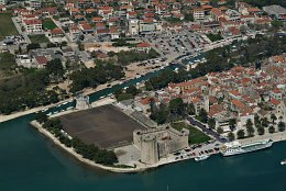 Aerial photo Trogir castle